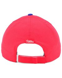 cbd7ddc5472 Lyst - Under Armour Philadelphia Phillies Driver Cap in Red for Men