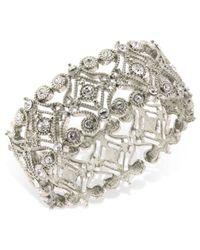 2028 | Metallic Bracelet, Silver-tone Crystal Scroll Bracelet | Lyst