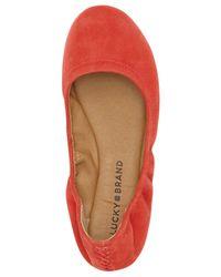 Lucky Brand - Multicolor Emmie Nubuck Ballet Flats - Lyst