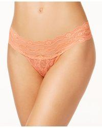 B.tempt'd | Orange By Wacoal Lace Kiss Thong 970182 | Lyst