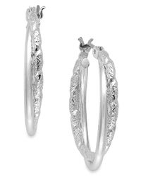 Charter Club - Metallic Textured Twist Hoop Earrings, Created For Macy's - Lyst
