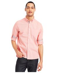 Kenneth Cole Reaction - Pink Micro-check Shirt for Men - Lyst