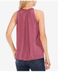 Vince Camuto - Multicolor Sleeveless Keyhole Top - Lyst