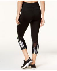 Calvin Klein Black Tribeca Printed Cropped Leggings