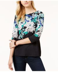 Charter Club - Black Boat-neck Top, Created For Macy's - Lyst