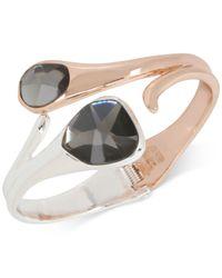 Robert Lee Morris - Multicolor Two-tone Black Stone Hinged Cuff Bracelet - Lyst