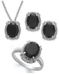 Macy's - Black Onyx (8-3/4 Ct. T.w.)and Diamond Accent Jewelry Set In Sterling Silver - Lyst