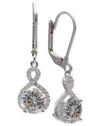 Giani Bernini - Metallic Cubic Zirconia Infinity Leverback Earrings In Sterling Silver - Lyst