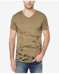 Buffalo David Bitton - Green Men's V-neck Camo T-shirt for Men - Lyst