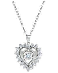 Twinkling Diamond Star | Metallic Diamond Star Heart Pendant Necklace (1/3 Ct. T.w.) In Sterling Silver | Lyst