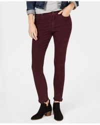 Style & Co. Red Corduroy Skinny Pants, Created For Macy