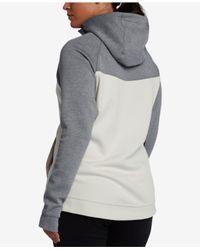 Nike - Black Plus Size Sportswear Tech Fleece Zip Hoodie - Lyst