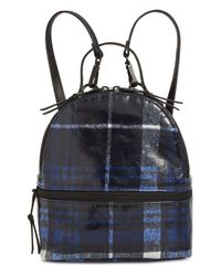 Steve Madden Blue Val Plaid Backpack