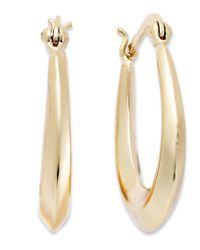 Giani Bernini   Metallic 18k Gold Over Sterling Silver Earrings, Tapered Hoop Earrings   Lyst