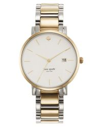 kate spade new york | Gray Watch, Women's Gramercy Two-tone Stainless Steel Bracelet 38mm 1yru0108 | Lyst