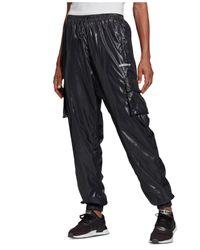 Adidas Black Shiny Cargo Pants