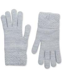Steve Madden Gray Lurex Sparkle Gloves