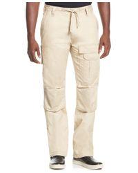 Sean John Natural Pleat Pocket Flight Cargo Pants, Created For Macy's for men