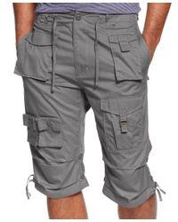 Sean John   Black Men's Classic Flight Cargo Shorts, Only At Macy's for Men   Lyst