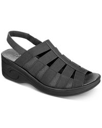 Easy Street Black Solite Floaty Sandals
