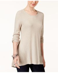 Style & Co. - Natural Peplum-back Tunic Sweater - Lyst