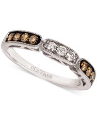 Le Vian - Brown Chocolate And White Diamond Band In 14k White Gold (3/8 Ct. T.w.) - Lyst