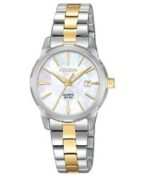 Citizen - Metallic Quartz Two-tone Stainless Steel Bracelet Watch 28mm - Lyst