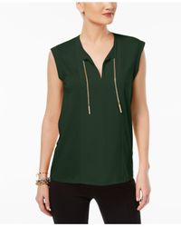 Michael Kors - Green Embellished Top - Lyst