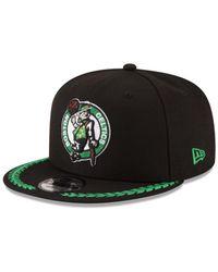 KTZ Black Boston Celtics Destroyer 9fifty Snapback Cap for men