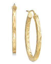 Giani Bernini - Metallic Textured Hoop Earrings, Created For Macy's - Lyst