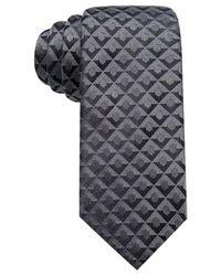 Alfani - Black Men's Geometric Silk Slim Tie for Men - Lyst