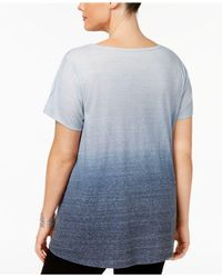 Style & Co. | Blue Plus Size Embellished Graphic Top | Lyst