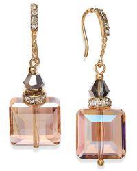 INC International Concepts   Metallic Earrings, Silver-tone Jet Square Bead Drop Earrings   Lyst