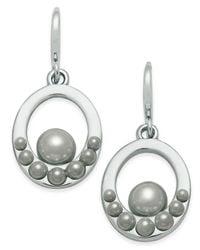 Charter Club | Metallic Imitation Pearl Drop Earrings | Lyst