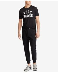 Polo Ralph Lauren - Black Active-fit Performance T-shirt for Men - Lyst