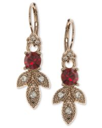 Marchesa - Gold-tone Pavé & Colored Stone Drop Earrings - Lyst