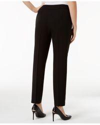 Nine West - Black Straight-leg Ankle Pants - Lyst
