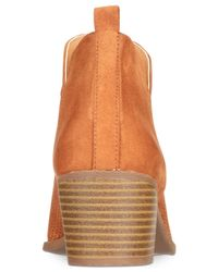 Style & Co. - Brown Women's Myrrah Perforated Ankle Booties - Lyst