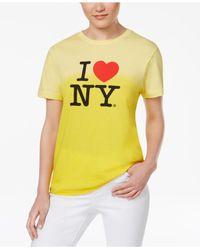 Macy's - Yellow I Love Ny Dip Dye T-shirt - Lyst