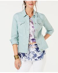 Style & Co. Blue . Denim Jacket, Created For Macy