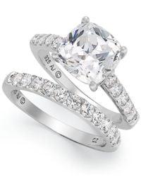 Arabella   Multicolor Sterling Silver Ring Set, Swarovski Zirconia Bridal Ring And Band Set (8 Ct. T.w.)   Lyst