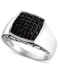 Effy Collection - Men's Black Sapphire Ring (1 Ct. T.w.) In Sterling Silver for Men - Lyst