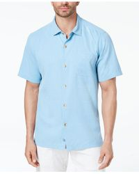 Tommy Bahama Blue Coastal San Clemente Silk Shirt, Created For Macy's for men