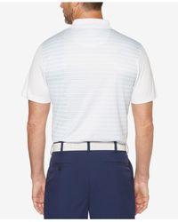 PGA TOUR - White Striped Polo for Men - Lyst