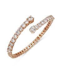 Joan Boyce Pink Crystal Flex Bangle Bracelet
