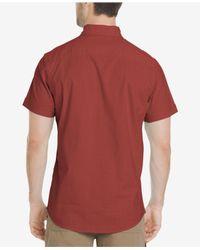 G.H.BASS Red Salt Cove Crosshatch Pocket Shirt for men