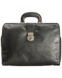 Patricia Nash - Black Men's Heritage Leather Slim Briefcase for Men - Lyst