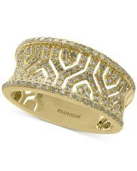 Effy Collection Metallic Effy® Diamond Band (1/2 Ct. T.w.) In 14k Gold