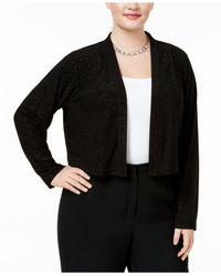 Calvin Klein Black Plus Size Sparkle Shrug