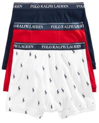 Polo Ralph Lauren White Underwear, Boxer Briefs 3 Pack for men